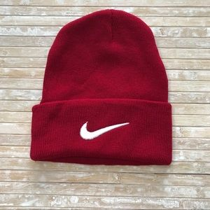 Nike Red and White Boy's Winter Hat